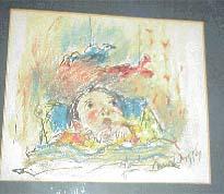 Mostel drawing of Barbara 5