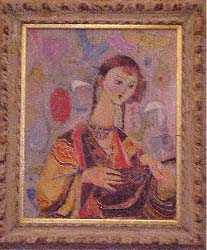 girl with mandolin, by Mostel